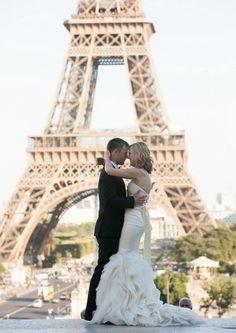 Romantic Destination wedding, Paris.