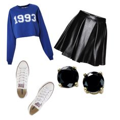 Untitled #6 by nicolehenderson518 on Polyvore featuring polyvore fashion style MSGM Converse B. Brilliant