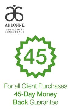Arbonne believes in their products 100% they offer a 45 day back guarantee... what other company does that? Shop at Oliviawood.arbonne.com