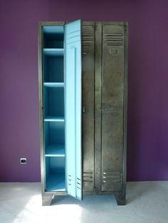 Vintage Black Storage Lockers by DustysRustyLockers on Etsy