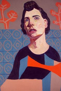 Meirion Ginsberg, Girl with the Patterned Dress, oil on canvas, 2013, 40