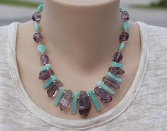 Her amethyst necklace statement necklace gift for mom