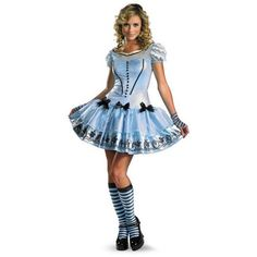 Adult Sassy Blue Disney Alice In Wonderland Movie Costume ($46) ❤ liked on Polyvore featuring costumes, blue halloween costume, adult costume, blue costume, disney halloween costumes and alice in wonderland adult costume