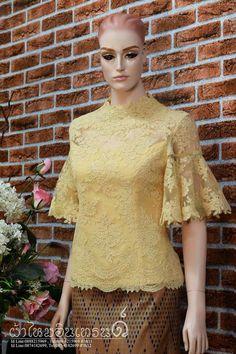 Batik Dress, Lace Dress, Dress Brokat, Kebaya Brokat, Model Kebaya, Batik Fashion, Latest African Fashion Dresses, African Dress, Traditional Dresses