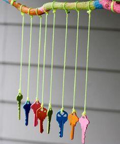 Transforme chaves velhas em objetos de decoração 011