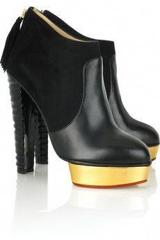 new styles 9f036 97104 Black and Gold Heels Charlotte Olympia  CharlotteOlympiaHeels Faire Des  Vêtements, Maroquinerie, Chaussure,