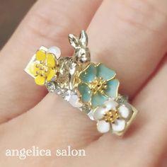 フラワーガーデンリング/お花畑、物語りのようなデザインリング、指輪 Kobe, Salons, Earrings, Accessories, Jewelry, Ear Rings, Lounges, Stud Earrings, Jewlery