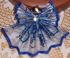 Fan folded wire ribbon angels 5