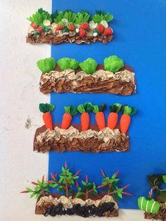 Preschool Garden, Preschool Activities, Diy And Crafts, Crafts For Kids, Arts And Crafts, Vegetable Crafts, Paper Fruit, Art Activities For Toddlers, Basket Crafts