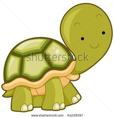 Turtle Clip Art | Picture Of A Cute Cartoon Turtle In Vector Clip Art Illustration