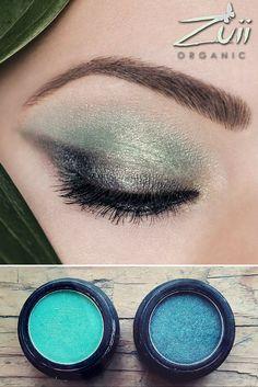 Makijaż oczu w odcieniach zieleni