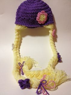 crocheted disney princess hat patterns   Tangled, Rapunzel, Disney Princess, Rapunzel , Crocheted Hat with ...