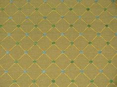 Beach Upholstery Fabric Blue Gold Green With Diamond