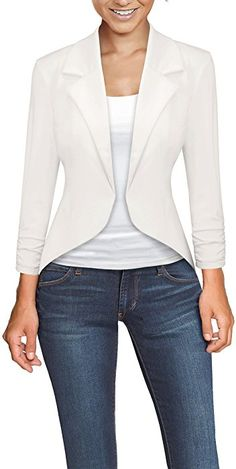 Hybrid & Company Womens Casual Work Office Open Front Blazer Jacket Made in USA Work Casual, Casual Wear, Casual Outfits, Women's Casual, Blazer Fashion, Fashion Outfits, Casual Blazer Women, Jacket Pattern, Work Attire