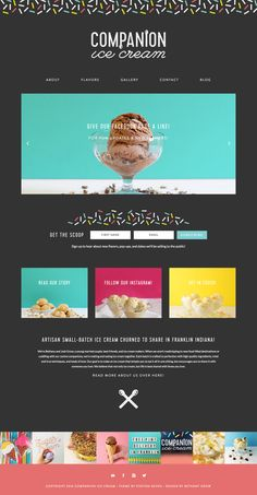 Companion Ice Cream is a fun ice cream shop running on Station Seven's Parker WordPress theme.