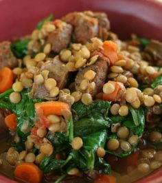 Sausage and Lentil Stew Slow Cooker