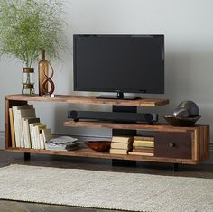 Stagged wood console #westelm