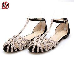 Gladiator Sandals Women Flat Shoe