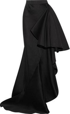 Lanvin Ruffled wool and silk-blend maxi skirt