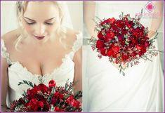 Afbeeldingsresultaat voor rode bloemen bruidsboeket