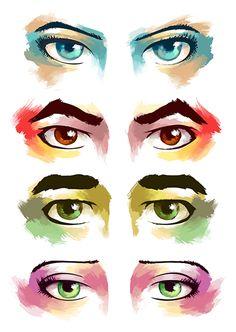 Korra, Mako, Bolin, and Asami's Eyes Avatar: Legend of Korra fireferretfuzzies.tumblr.com