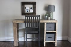 Pottery Barn inspired desk is a easy build with a simple design.