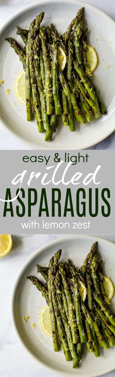 Grilled Asparagus topped with fresh Lemon zest, an easy paleo side dish that screams summer and takes minutes to make. You'll love how easy and flavorful this recipe is! via @jheats