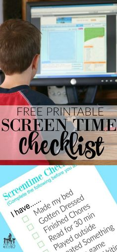 summer contract and screentime checklist to keep the kids, tweens, and teens accountable this summer.  Set screentime limits for electronics easily and effectively - parenting win for the summer break!