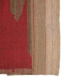ElizabethPeacock | door hanging | plain weave | wool: vegetable-dyed | 195 cm x 88.9 cm | U.K. | c. 1930s