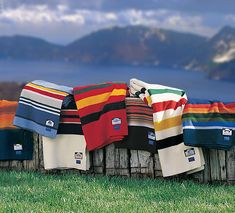 Send each guest home with a cozy, classic Pendleton Blanket, mmm!