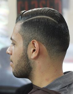 Slick cut, good use of product and nice clean line. Repined by theGreaseShop.com for slick hair products.