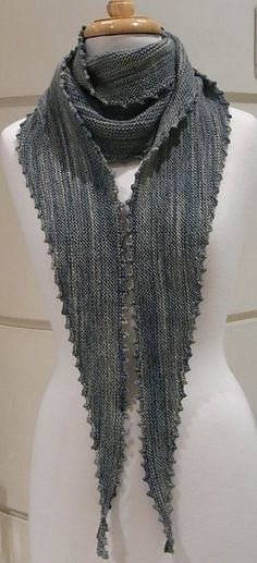 Ravelry: Picot Edge Scarf pattern by Morris & Sons
