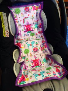 Car seat cooler- Princess Castle pattern on Etsy, $25.00