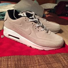 Nike AirMax MENS 8 Tan Suede Ready to ship same day! Never been worn, flawless, great deal. Feel free to offer! Would fit women 9.5 or men 8 Nike Shoes Sneakers