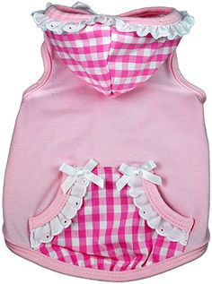Sweet Tooth Dog Hoodie by Ruff Ruff CoutureAlways combining glamour and pure fashion with a sense of humor, Ruff Ruff Couture of Beverly Hills is for the ultra-chic doggie who wants to stand out from the pack.  White and Pink Gingham Hood with Pockets, White Ruffles and BowsProudly made in the U.S.A.    PupRwear is proud to bring you the latest styles by Susan Lanci, Pinkaholic, Fou Fou Dog, Canine Styles, Hip Doggie, Dog in the Closet, Toni Mari and many more designers. Every dog product is…
