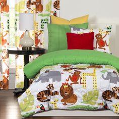 Crayola Jungle Love 3-piece Comforter Set