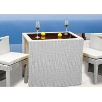 Buy cheap Milk White Plastic Rattan Bar Set Outdoor / Indoor Taproom Furniture from Wholesalers
