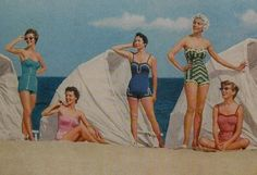 Fashion Forward: 1950s Swimsuits REDUX • Little Gold PixelLittle Gold Pixel