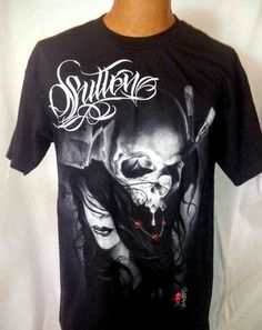 Sullen Art Collective Skull T-Shirt Size Large Design by Tattoo Artist SIRRIS #SullenArtCollective #ShortSleeve