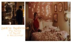 Sam's Room in Perks of Being a Wallflower - I like her bedding! It's not white but it would probably look okay with white. What do you think?