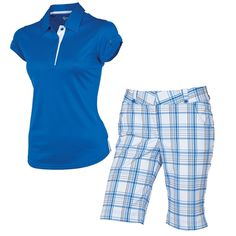 2-piece blue plaid ladies #golf outfit | #golf4her #sunice