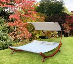 MALIBU Garden Bed - canopy hammock for the backyard from Zahradne Postele Outdoor Fun, Outdoor Spaces, Outdoor Living, Outdoor Decor, Outdoor Stuff, Lawn And Garden, Garden Beds, Home And Garden, Backyard Hammock