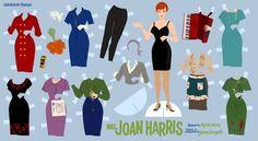 Mad Men Joan HOLLOWAY paper dolls to print