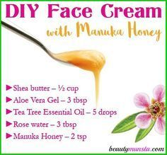 We are going to learn exactly how to make a DIY Manuka Honey Face Cream to heal all skin woes! As an elegance DIYer, I can inform you that adding manuka honey to your homemade skin care formulations is 1 of the best actions you can take. Manuka honey is truly nourishing for your skin. It's jam-packed … #facecreamsdrugstore #nightfacecreams #facecreamsbest #facecreamsmoisturizing #facecreamsbakingsoda #antiagingfacecreams