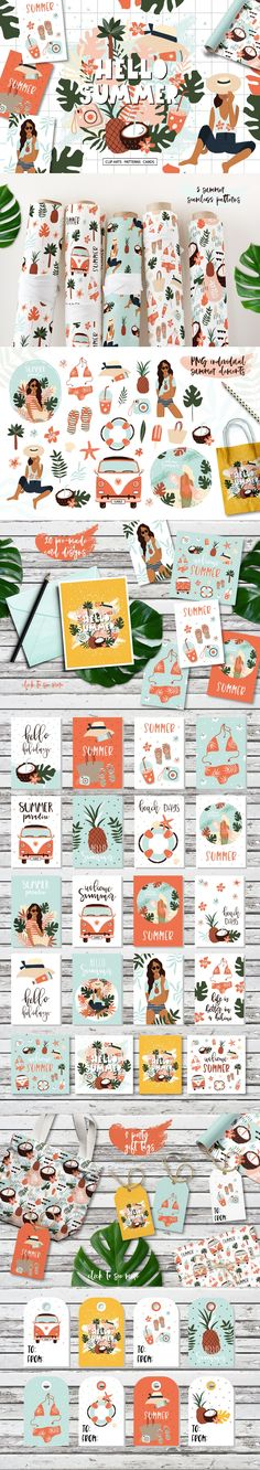 Summer in Hawaii -Clipart collection by lokko studio on @creativemarket