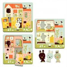 Djeco puzzel 3 lagen het huis van Carrot