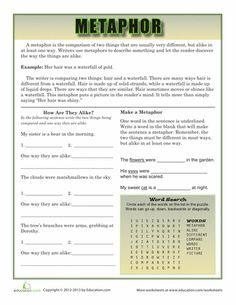 Worksheets: All About Metaphors