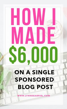 It is possible to make money online through blogging. In fact, on this post, I'm sharing with you how I made $6,000 on a single sponsored blog post alone. #startablog #makemoneyfromablog #incomereport #howtomakemoney
