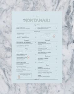 Trattoria Montanari is a family run italian restaurant located in the heart of Stockholm. We created their visual identity and communication concept. The identity includes logotype, symbol, color scheme, menus and stationery. Client: Trattoria Montanari