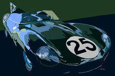 jaguar D-type #jaguar #dtype #lemans #classiccars #sportscar #motorsport #automotiveart